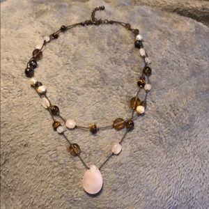 Lia Sophia Rose Quartz Necklace